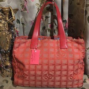 CHANEL large Monogram Tote handbag Vintage RARE!